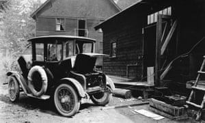 A Detroit Electric automobile charging in 1919.