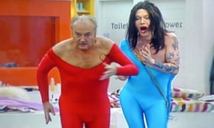 Pete Burns with George Galloway on Celebrity Big Brother in 2006.