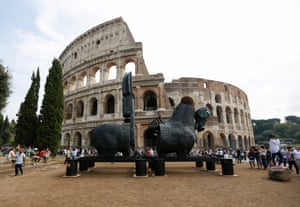 Another sculpture, outside the Colosseum.