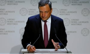 Draghi speaking at Lindau