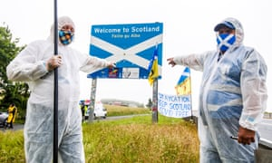 Scottish pro-independence activists