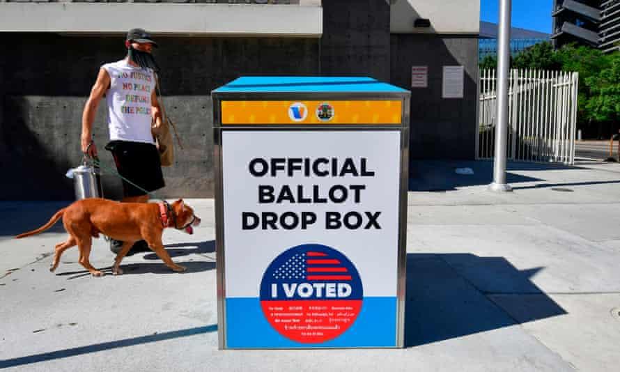 A genuine ballot drop box in Los Angeles.