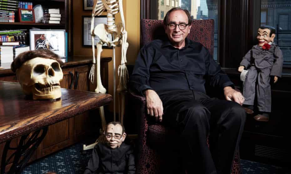 Author RL Stine in his Manhattan home office.