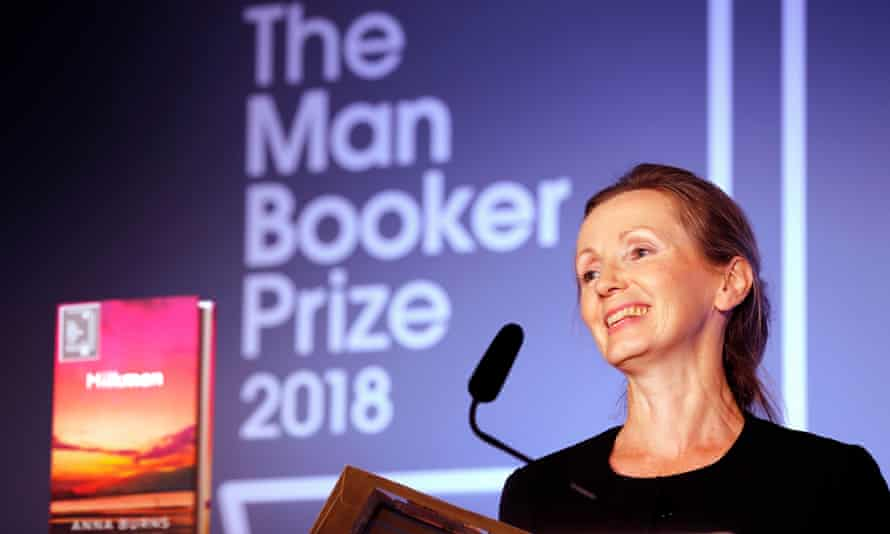 'It feels wonderful, dreamlike' … Burns receiving the award.