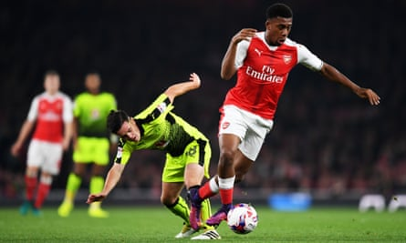 Alex Iwobi, left, has only two goals for Arsenal to his name.