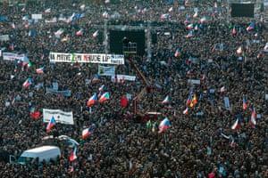 Crowds in Prague