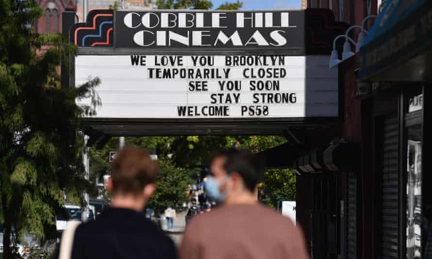 A shuttered cinema in Brooklyn