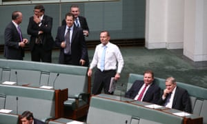 Tony Abbott during an opposition attempt to censure Mal Brough in the House of Representatives in Parliament House Canberra this morning, Wednesday 1st December 2015.
