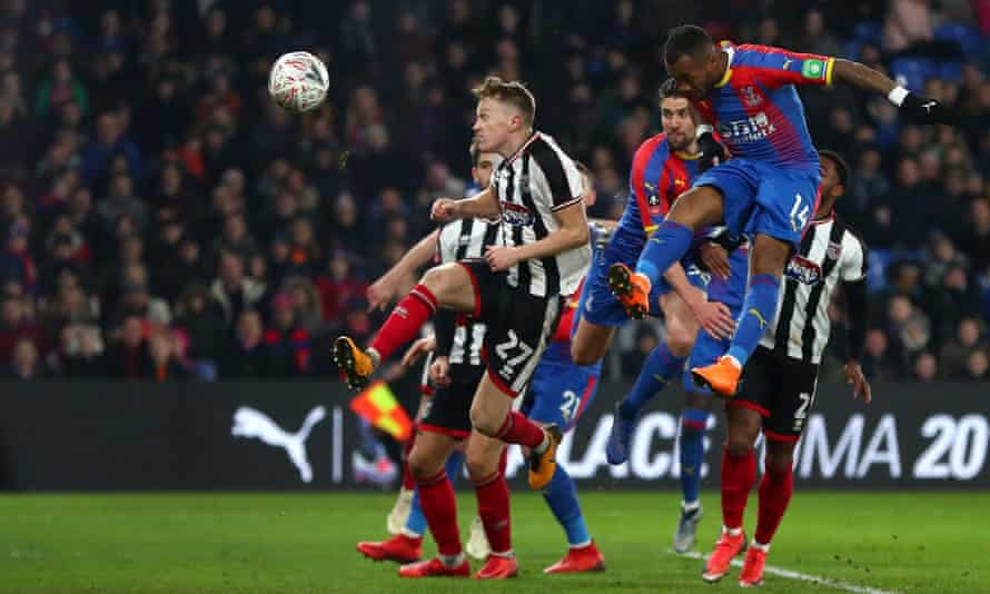 Jordan Ayew opens the scoring for Crystal Palace against Grimsby.