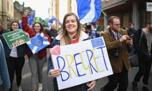 Anti-Brexiteers March In Edinburgh