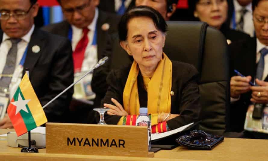 Aung San Suu Kyi looks on during the 9th Asean-UN Summit.