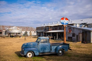 Old Chevrolet 3100 pickup truck at The Shack Up Inn, Clarksdale, Mississippi