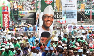 Supporters of All Progressives Congress attend a campaign rally.