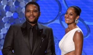 Black-ish stars Anthony Anderson and Tracee Ellis Ross at the Emmys.