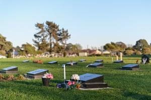 Memorial Park Cemetery in Christchurch, where most of Australia's far-right terrorist victims are buried.