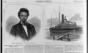 Robert Smalls, captain of the gun-boat 'Planter' which was run out of Charleston in May 1862.