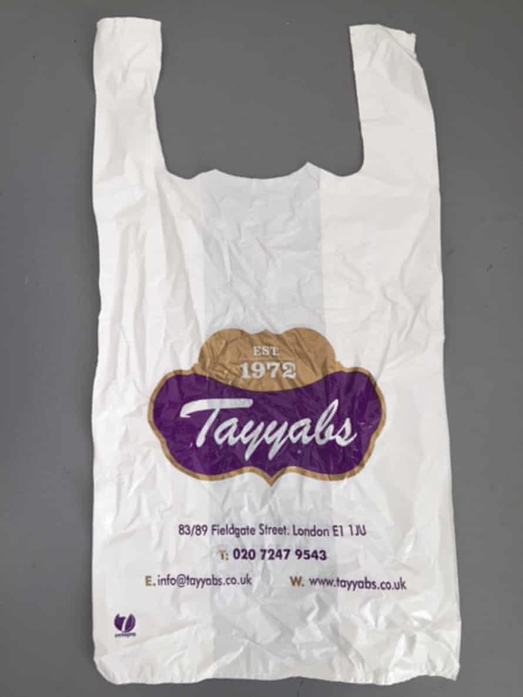 Tayyabs plastic bag