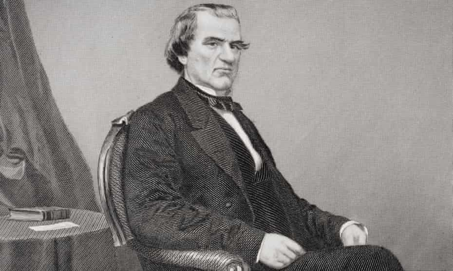 Andrew Johnson, from a painting by Alonzo Chappel.
