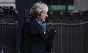 Theresa May departs Downing Street