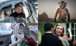 Daniel Craig in Spectre; Matt Damon in The Martian; Cate Blanchett in Carol; and Jafar Panahi's Taxi Tehran.