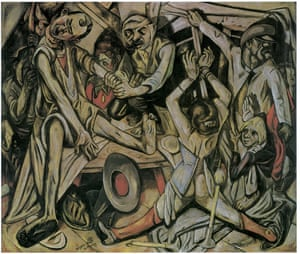 Max Beckmann's The Night, which appears in the book.