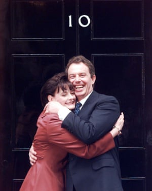 Tony and Cherie Blair in Downing Street
