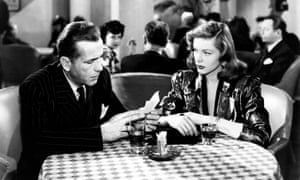 Humphrey Bogart and Lauren Bacall in The Big Sleep.
