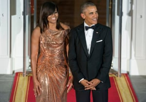 Michelle Obama stunned in Versace.