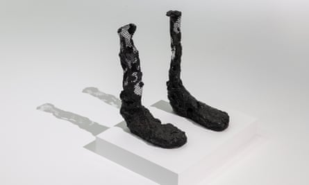 Bronze feet by Huma Bhabha