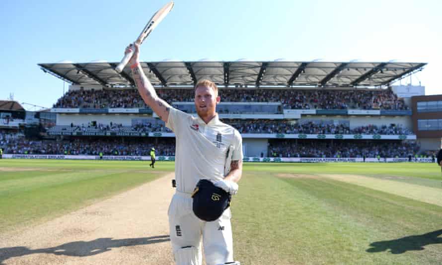 Ben Stokes salutes the Headingley crowd