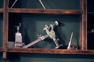 The company's first lathe, an 8mm nicknamed Ray, after the man who mentored Craig after he graduated. 'Ray worked at Mercer's, the chronometer makers, and used to come once a week to the basement workshop I had then and give me little insights and the input of his 60 years in the trade.