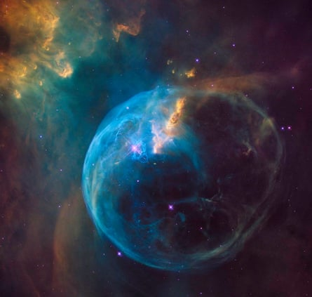 The Bubble Nebula, also known as NGC 7653, captured by the Hubble Telescope.