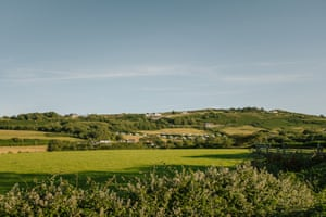 The view back up to the caravan park from the coast. Being only a small site, the caravan park is closeknit community.
