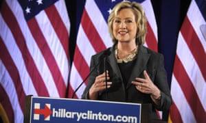 Hillary Clinton speaks in New York on Friday