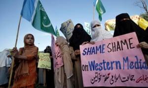 Protest in Pakistan against social media