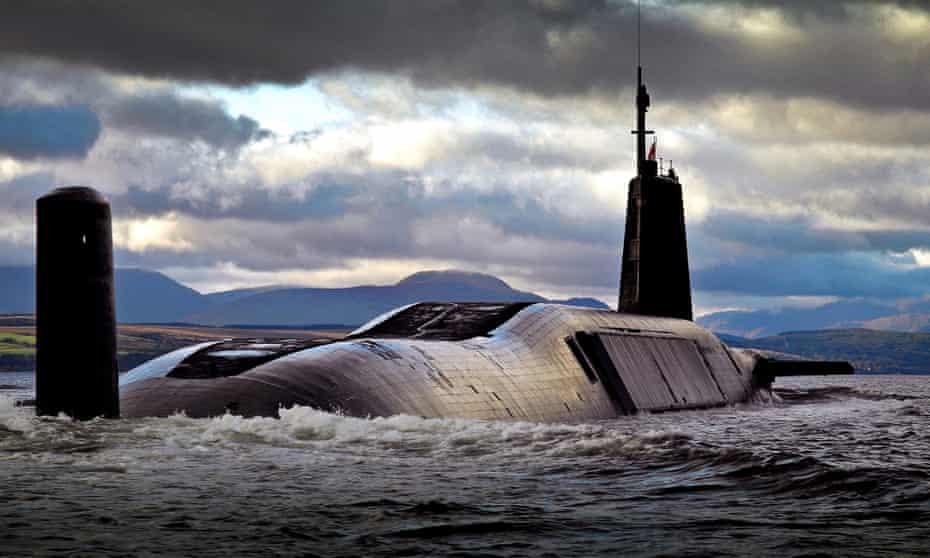 The nuclear submarine HMS Vengeance