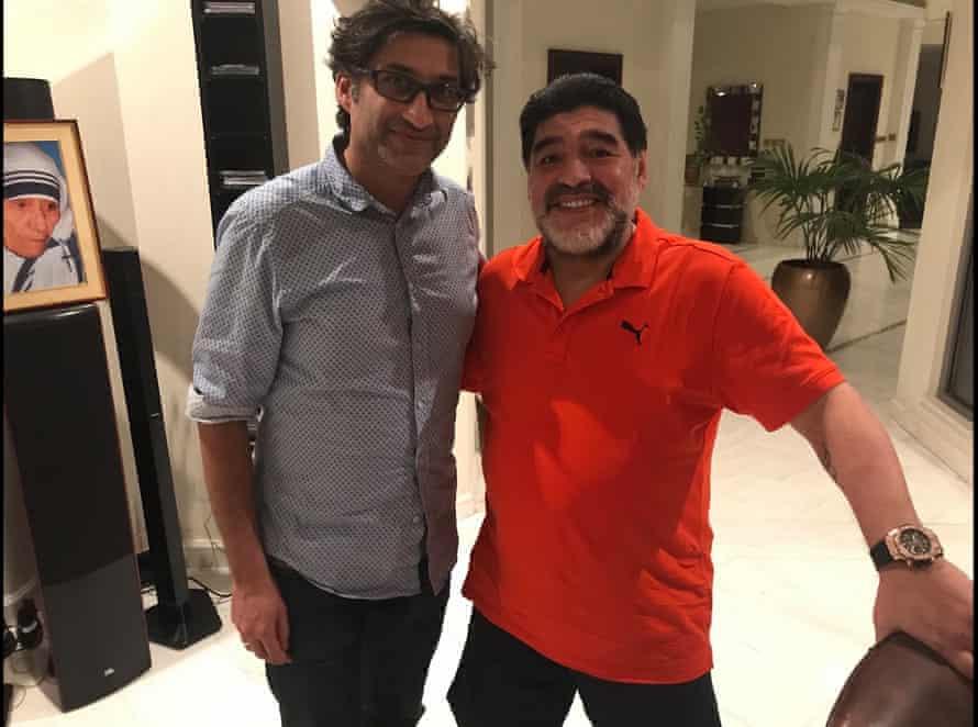 Asif Kapadia with Maradona.