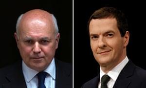 Ian Duncan Smith and George Osborne