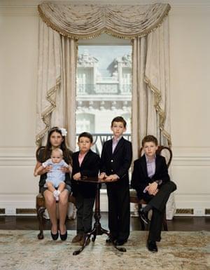 The Grandchildren of Denise Saul, New York, 15 October 2012 by Rineke Dijkstra.