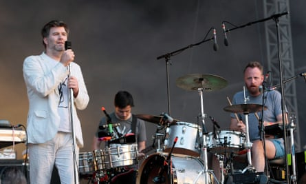 James Murphy performs with LCD Soundsystem in London in 2010.