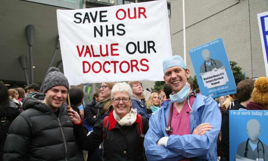 Junior doctors take to the streets of Newcastle in protest over planned contract changes.