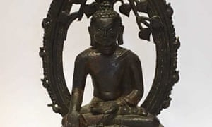 Detail of the bronze Buddha