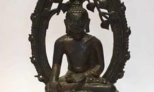 Detail of the bronze Buddha