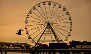 Every day life on Blackpool beach.