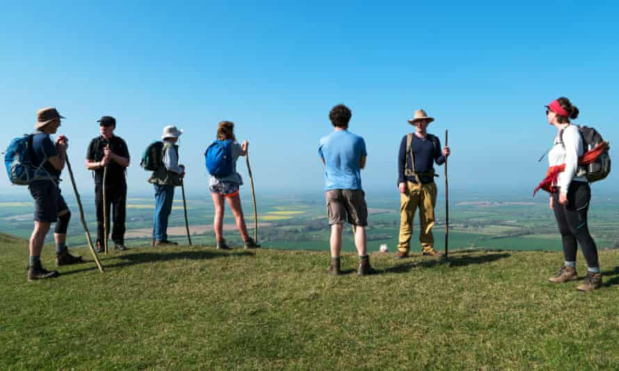Pilgrims in the South Downs.