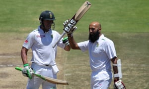 AB de Villiers, left, is to succeed Hashim Amla, right, for the rest of the series.