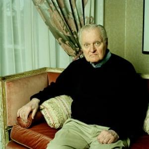 John Ashbery at home in Hudson, New York.