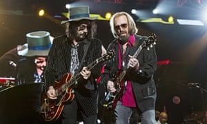 Mike Campbell, left, and Tom Petty in 2017.