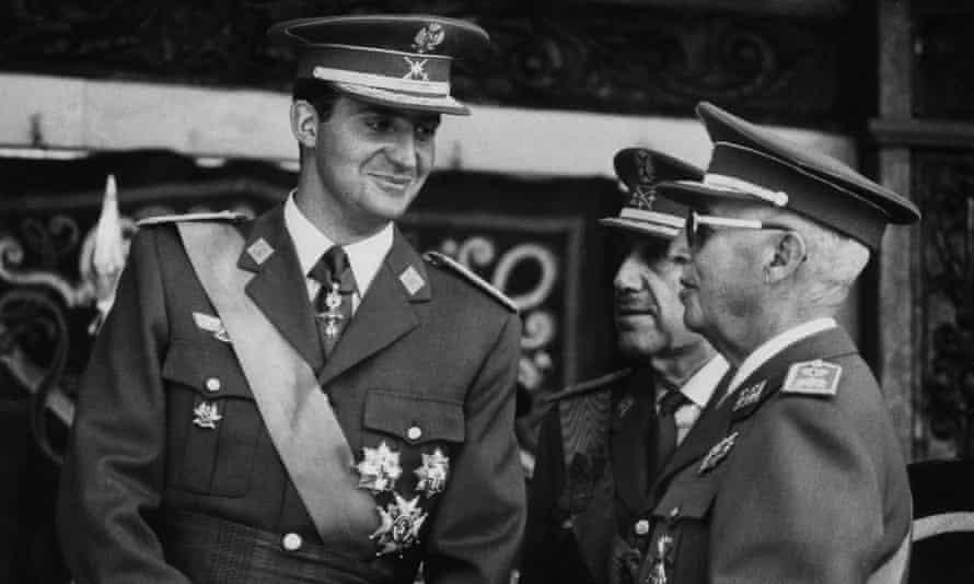King Juan Carlos of Spain and General Franco in 1969.