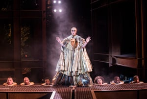 Peter Caulfield as Herod in Jesus Christ Superstar in 2016. Revived for the 45th anniversary of Andrew Lloyd Webber and Tim Rice's musical, with design by Tom Scutt and direction by Tom Deering